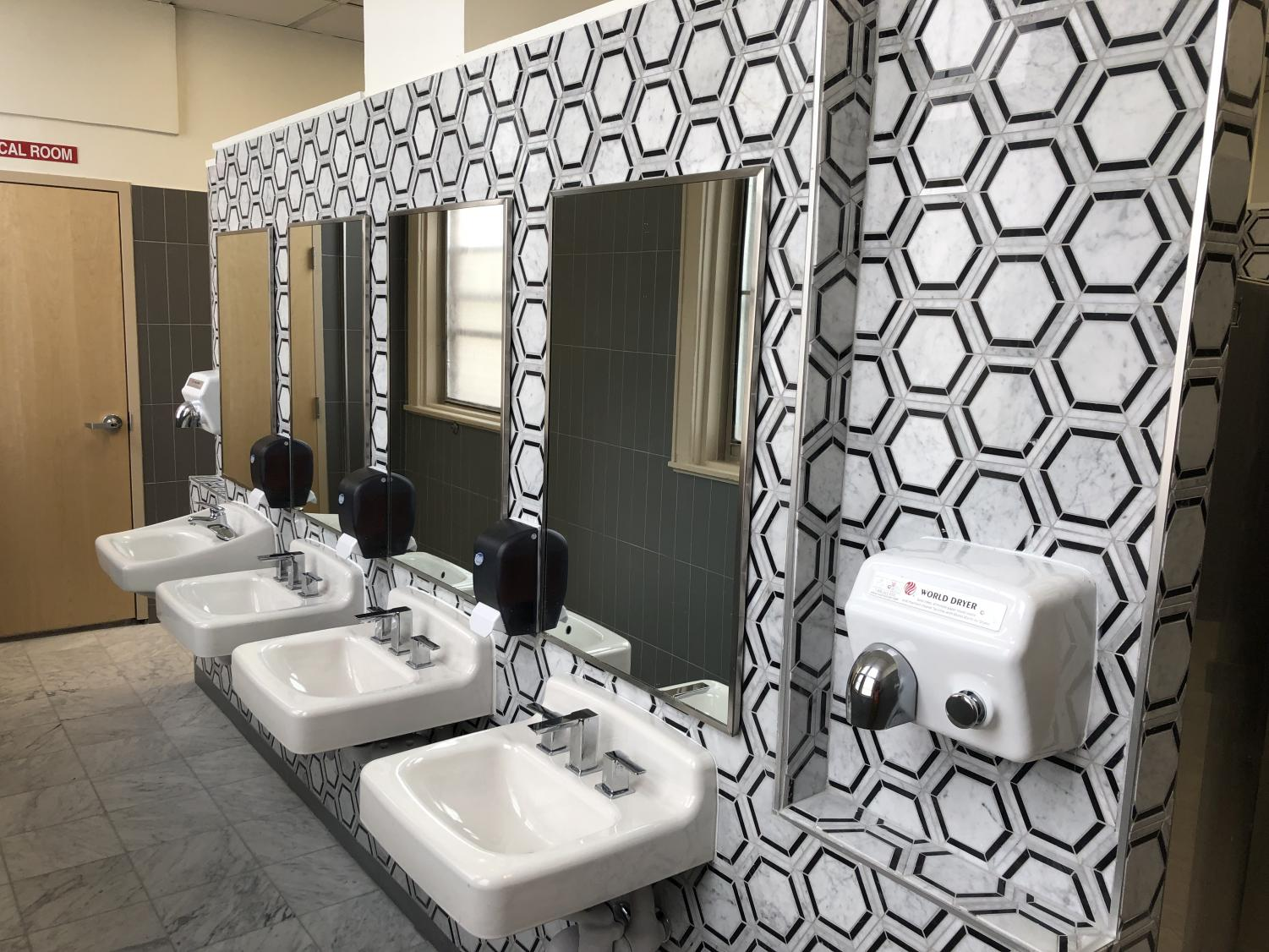 The restroom renovations were part of the EPISD bond project. The new design has generated mixed emotions from students.