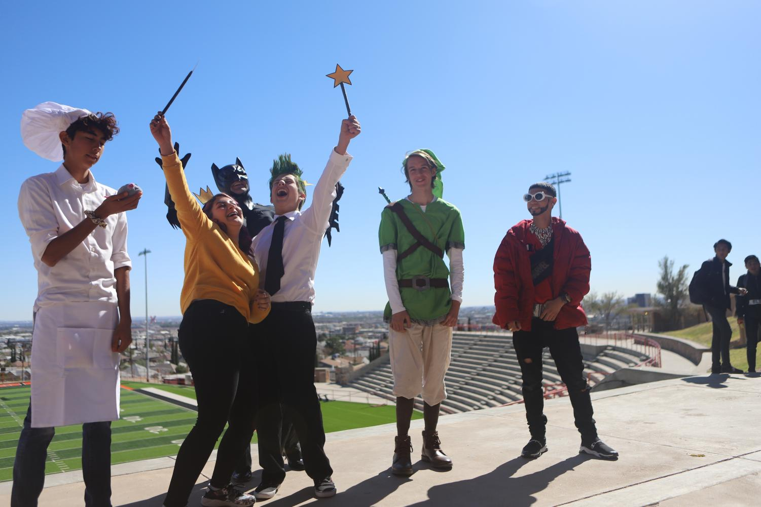 Who wore it better? Students celebrate Halloween and take part of a costume contest held during lunch time on Oct. 31.