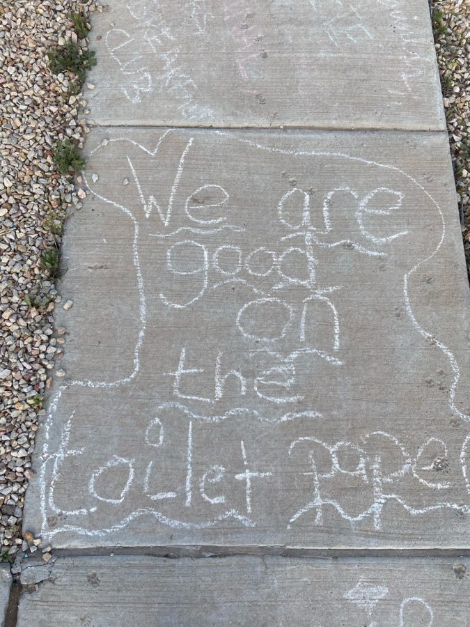 Residents in the Kern area turned their attention to chalk art on their sidewalks.