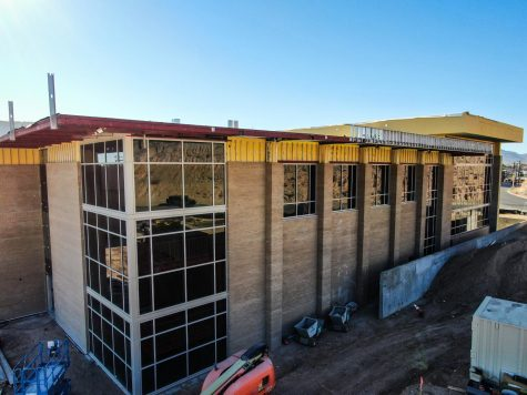 The new fine arts building is located along side Schuster Ave. next C.D. Jarvis gymnasium. Its set to be completed at the end of February or early March.